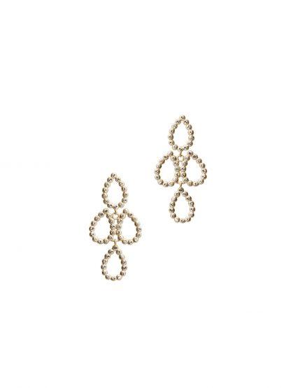 Crystal glam chandelier øredobber